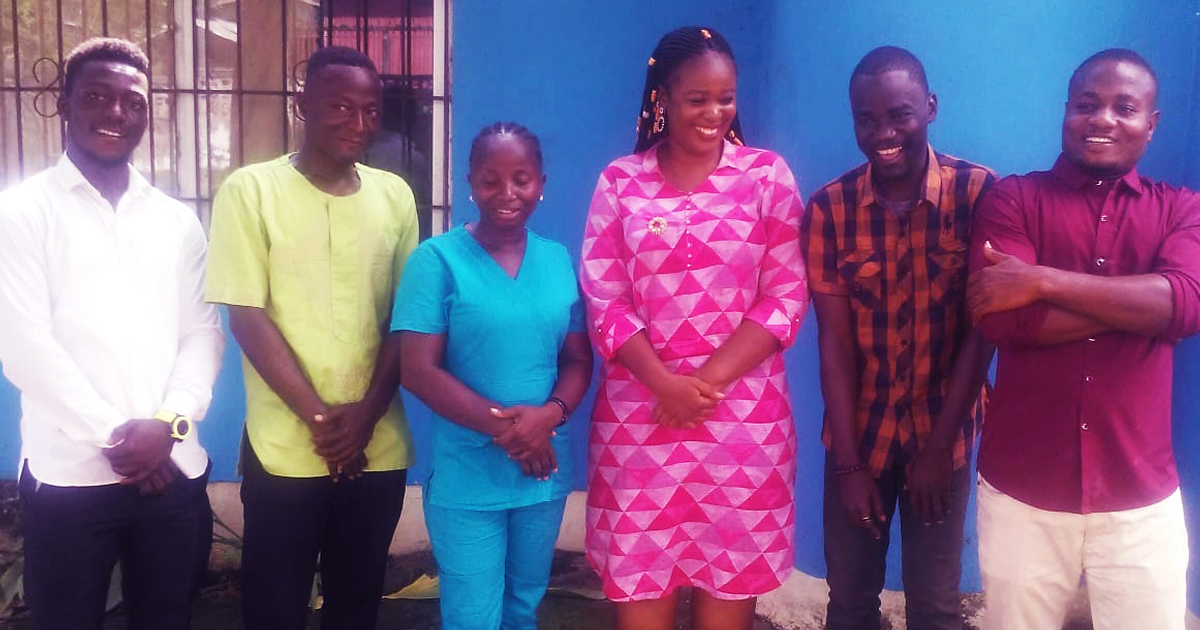 Nyanquellah Livingstone and the team from Raising Godly Generation