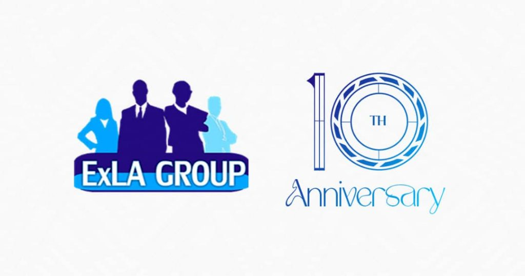 Design cover celebrating ExLA Group's 10th Anniversary